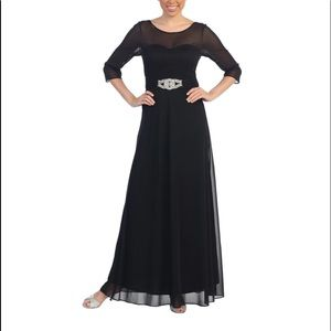 Round Neck Empire  Formal Gown dress  (Size S)